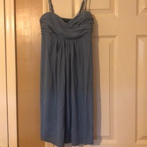 Blue dress with adjustable straps